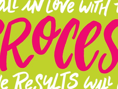 Fall in Love With the Process... motivational monday monday motivational color colors hand lettering hand drawn hand letters letters lettering typography type
