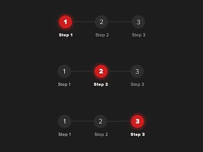 Breadcrumb navigation UI element greyscale round dark mode dark ui progress progressbar stepper steps breadcrumbs breadcrumb navigation bar navigation menu