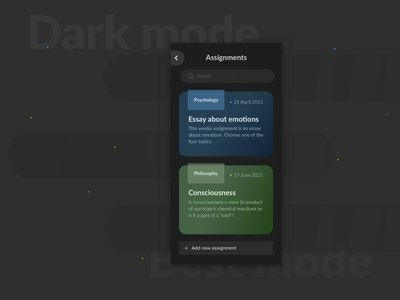 Dark mode app design study app student study minimal blue black app design gradient dark mode dark ux ui