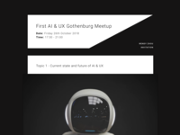 Email Invitation for a meetup
