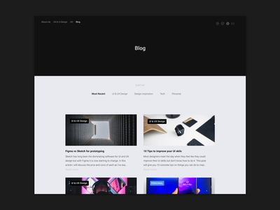 Blog section of portfolio articles image gallery photography portfolio blog portfolio design portfolio page portfolio clean uiux minimalism landing page ux ui blog header blog design blog
