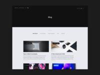 Blog section of portfolio