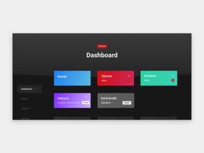 Dark dashboard design