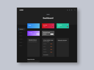 Dark Dashboard dashboard gradient black dark mode app dark uiux minimalism ux ui