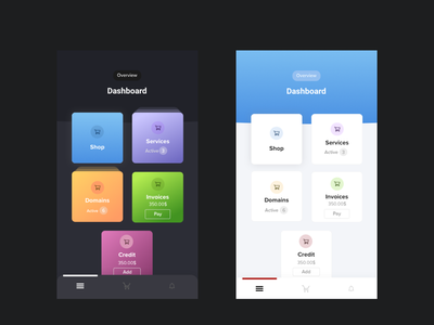 Mobile app dashboard uiux blue minimal gradient black design dark mode app dark minimalism ux ui