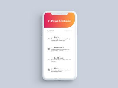 App design - Bright & Gradient ui challenge to do app app design design light gradient app clean uiux minimalism ux ui