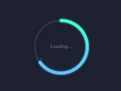 Loading Dark Mode - Gradients loading bar progressbar progress loading illustration mobile app blue black gradient dark mode dark clean uiux minimalism ux ui