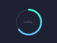 Loading Dark Mode - Gradients