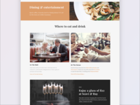 Landing page - shopping centre
