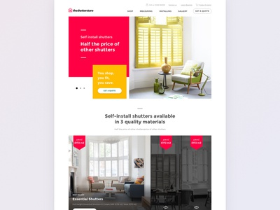 Shutterstore home page