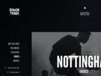Record shop concept - event pages