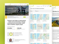 Sustrans charity - final page comps