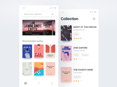 Home page & Collection read design booking category collection ux ui list book