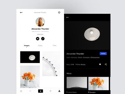 📷Visitors app design profile iphone photography ux ui photo layout app visitors