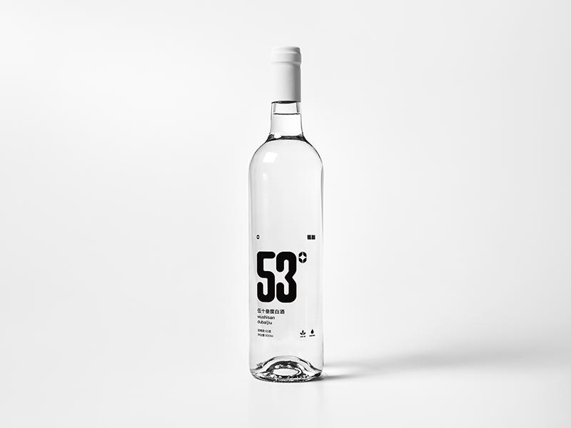 53° Branding design liquor mockup design branding 53