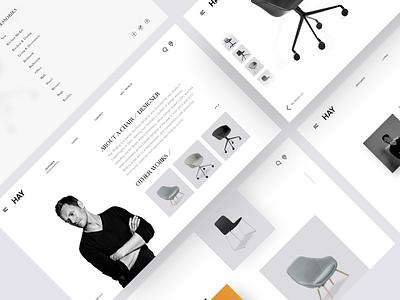HAY Furniture designer layout clean web furniture