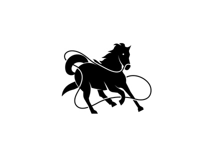 Running horse vector brand identity mark icon black horse symbol design brand branding logotype logo