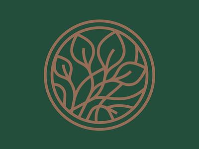 Flower ring mark symbol furniture fashion brand branding logotype logo floral leaves leaf tree plant flower