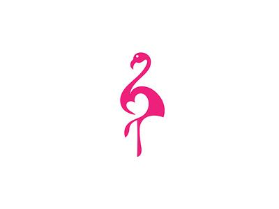 Flamingo brand illustration elegant mark symbol birdlogo bird animal branding logotype logo flat flamingo