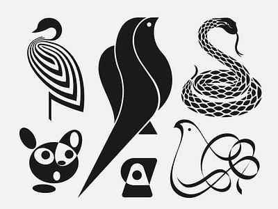 Animal Marks Vol.1 design animals birds animal logotype brand mark symbol branding logo
