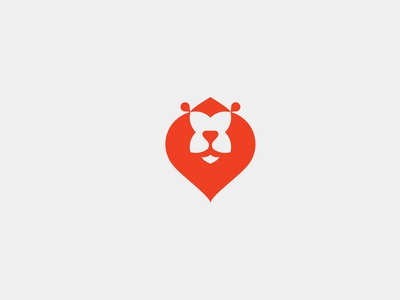 Happy Lion logodesign heart animal design symbol brand logotype branding logo mark