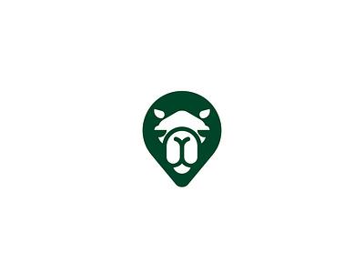 Camel mark icon illustration location pin animal design symbol brand logotype branding logo mark camel