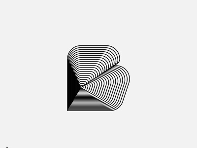 B - Type Experiments monogram branding symbol lettermarks line lettering blend type typogaphy logotype lettermark logo letter logo letter