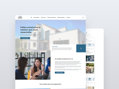 Architecture agency landing page agency build workers houses architecture design ui page landing