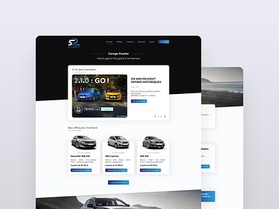 Car dealer landing page services peugeot offers dealer car design ui page landing