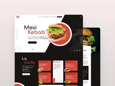 Fast Food Landing Page restaurant menu sandwich kebab burger food fast page landing ui design