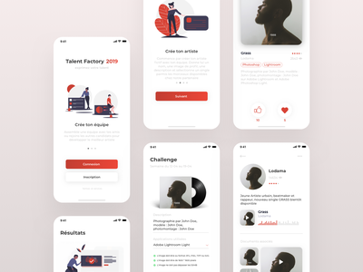 Talent Factory Contest App for Sony Music Entertainment graphic sony industry music contest app ui design