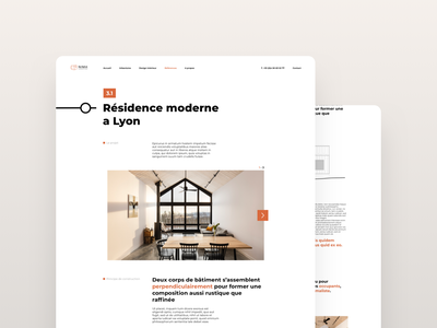 Architecture Agency Landing Page building house architecture architect agency page landing ui design