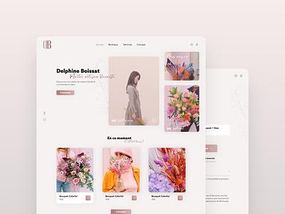 Florist Landing Page - E-shop sell online ecological green shop e-shop flower florist page landing ui design