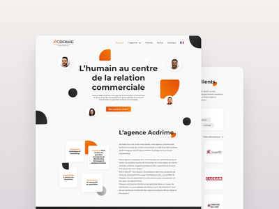 Commercial Agency Landing page illustration branding logo agency page landing ui design