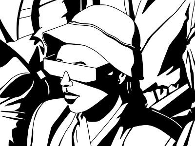 Cinema vr cinema black and white monochrome monocolor blackandwhite analogue illustration