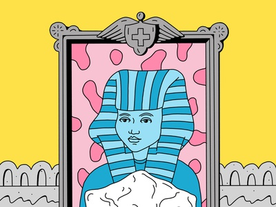 The Chariot (1/2) tarotcards tarot analogue weird line figurative drawing colorful illustration handmade