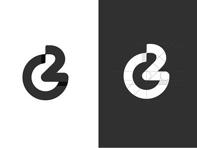 G2 Monogram icon design app icon logomark grid shape logo design branding lettermark monogram black logotype logo