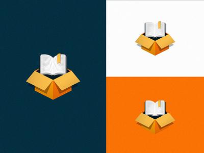 Bookbox bookshop bookstore app icon brand 3d logo blue branding logotype logo box book