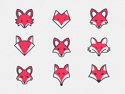 Fox explorations fox animal logo logomark logo design branding blue cartoon logo red logotype brand logo
