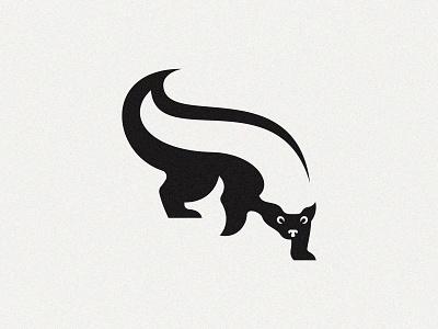 Honey Badger ratel white brand negative space black badger honey animal logotype logo