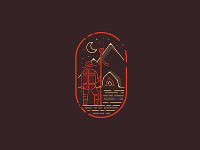 Pilgrim's Cave orange brown coffee pub bar cave pilgrim logotype brand logo