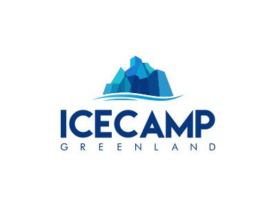 Icecamp blue illustration greenland logo icecamp
