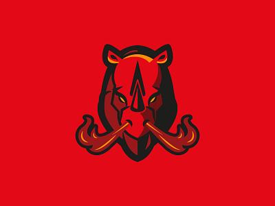 Rhino brand rhinoceros animal design logo rhino
