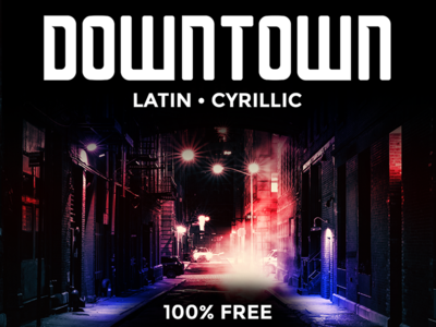 # Downtown Typeface #