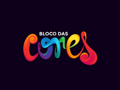 # Bloco Das Cores # illustration badge vector logo party street colors bloco das cores carnaval carnival