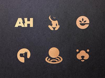 21 Negative Space Logos brand identity brand icon symbols logotypes gold black logomark logotype design logotype logo negative space