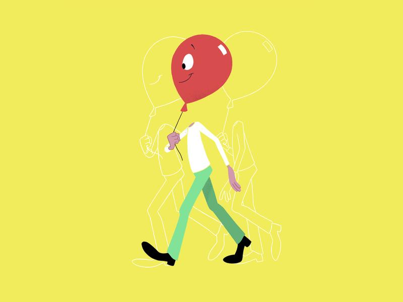 Walk Cycle design illustration motion graphics motion design character animation character design