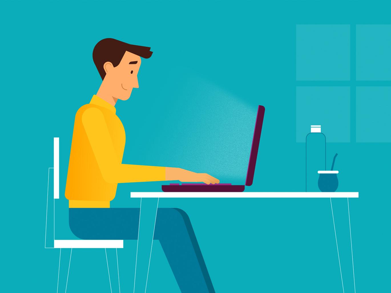 Working illustration motion graphics animation motion design character animation character design