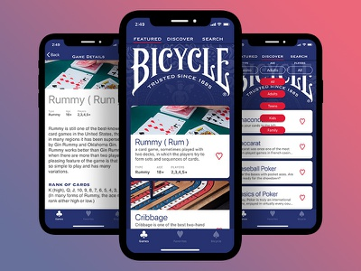 Bicycle - How to Play branding ux ui ios