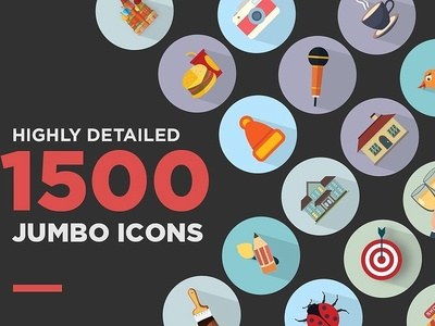 Jumbo Flat Icons mobile app icons web icons psd fashion png svg flat icons graphic design illustration vector